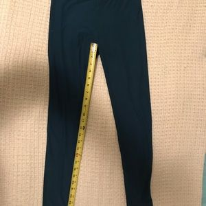 LuLaRoe turquoise OS leggings.